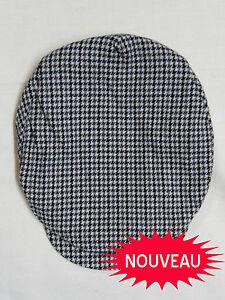 CASQUETTE-HOMME-RETRO-DANSE-VINTAGE-cap-1950-039-s-POLO-Pied-de-poule-Tricolore