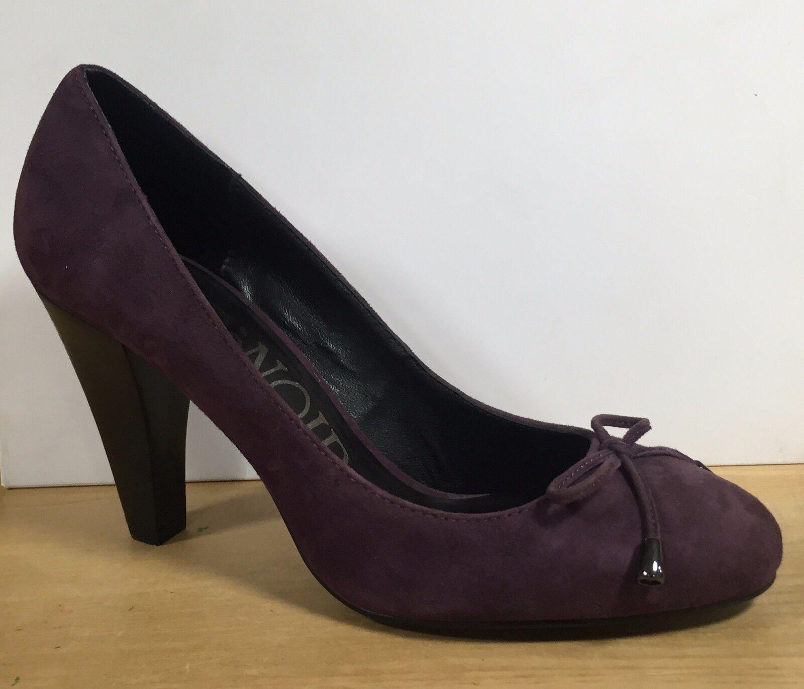 CAFè NOIR scarpe donna decoletè in camoscio camoscio in prugna con tacco alto e plateau 9eff63