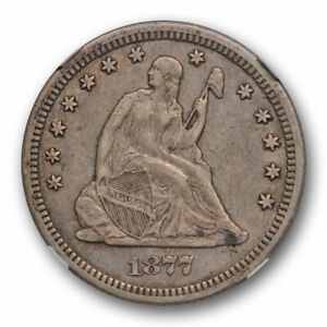 1877-CC-25c-Seated-Liberty-Quarter-NGC-XF-40-Extra-Fine-Carson-City-Mint-Orig