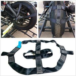 Folded-Motorbike-Rear-Wheel-Handlebar-Transport-Bar-Tie-Down-Strap-Safe-amp-Reliable