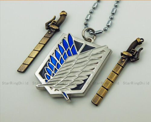 Attack on Titan Shingeki no Kyojin Survey Legion Eren Jäeger Jewelry Necklace