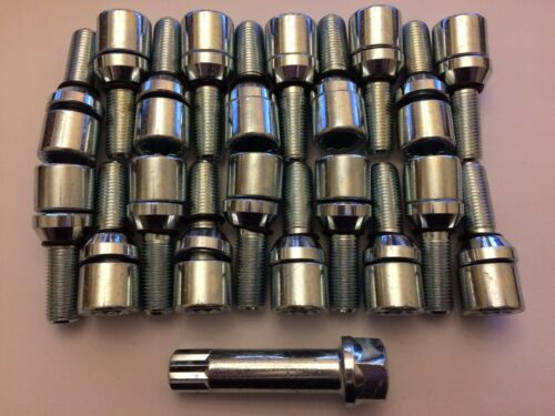 20 X M12X1.25 Aleación Pernos De Rueda llave Bamboleo sintonizador interno largo se ajusta Alfa 58.1