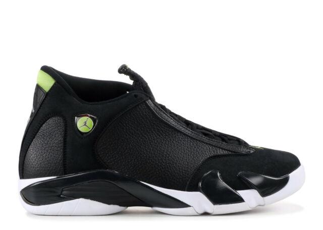 Nike Air Jordan XIV 14 Retro Black//Black-White-Vivid Green 487524-005 GS SZ 6Y