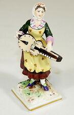 ALTE - Figur PORZELLANFIGUR Dame Musikerin - vermutlich GERA o. GARDNER gemarkt