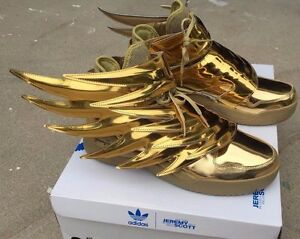Adidas Jeremy Scott Wings 3 0 Metallic Gold Batman Shoes Sz 4 14 100 Authentic Ebay