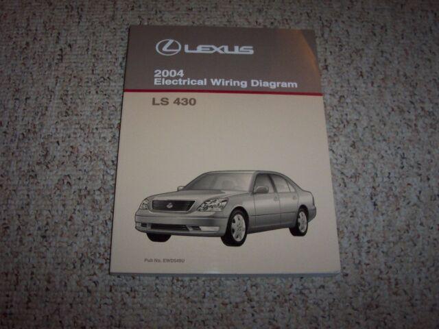 2004 Lexus Ls430 Ls 430 Factory Original Electrical Wiring Diagram Manual 4 3l