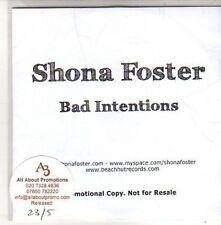 (CH197) Shona Foster, Bad Intentions - 2011 DJ CD