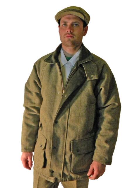 Campbell Cooper Mens Tweed Shooting Fishing Riding Hunting Jacket Coat Green New