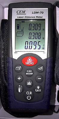 Digital Laser Range Finder Distance Meter Area Volume Tester 0.05-70Meter LDM-70