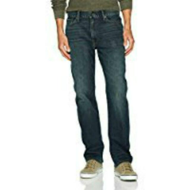 e484415d5ef Mens 42x34 Lucky BRAND Stretch 410 Athletic Fit Dark Wash Denim Blue Jeans