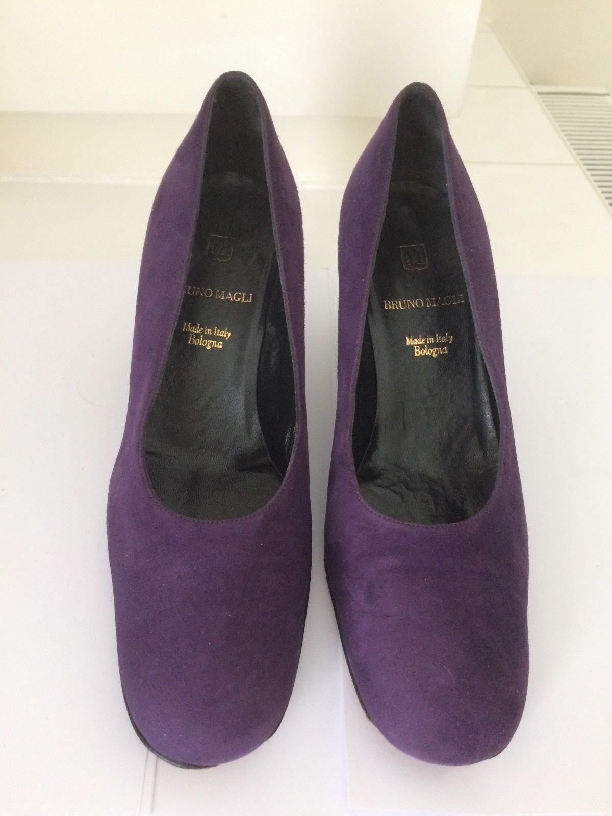 Bruno Magli Suede Purple Pumps, Size Size Size 37,5 (UK 4,5) 6ea995