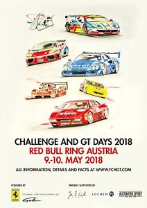 Challenge-and-GT-Days-2018-official-Poster-in-A1-Ferrari-collector-039-s-item