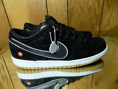cheaper 04211 3d0ca Nike Dunk SB Low Quartersnacks 313170-019 BLACK/BLACK-REFLECTIVE SILVER s  9.5 | eBay