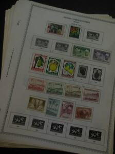 EDW1949SELL : GUINEA Mint & Used collection, all different on album pages.
