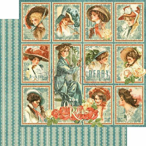 a las carreras Colección My Fair Lady papel de 12 X 12 Gráfico 45 2 hojas