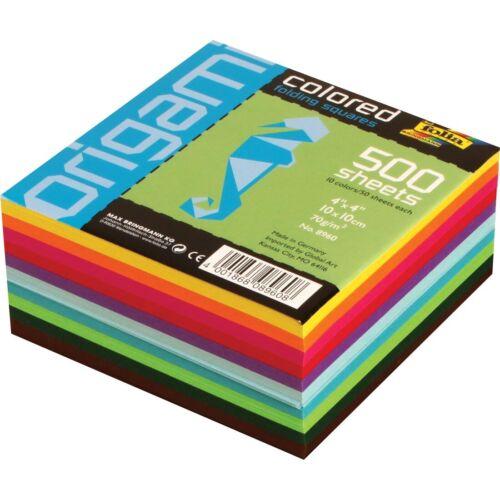 "4x4/"" 4X4/"" Folia Paper Origami Colored Folding Squares"