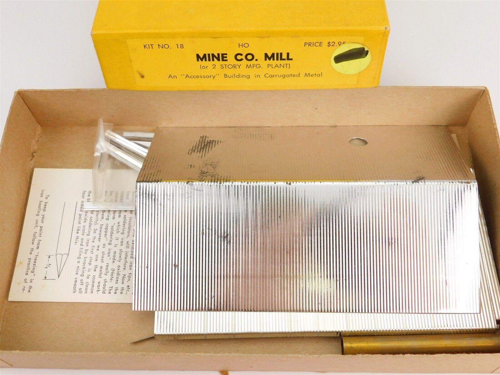 HO 187 Scale Suydam No. 18 Mine azienda Mill Metal modellolo costruzione Kit