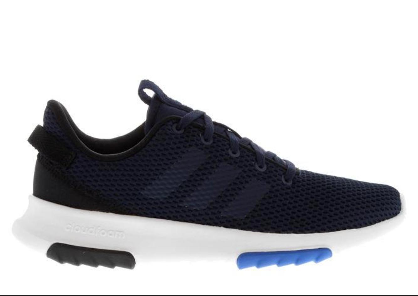 Adidas CF Racer Cloudfoam  Herren UK 9.5 EU 44 Navy / Weiß Running Schuhes Trainers