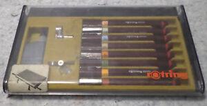 rOtring-2000Technical-Drawing-Lettering-Pen-Set-of-8-pens-Art-C12B4