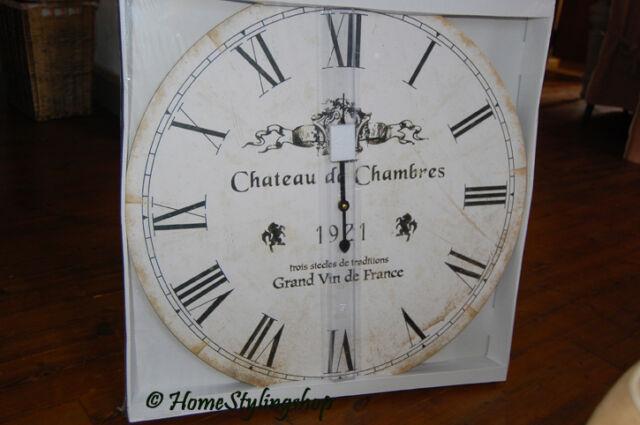 Wanduhr Groß Uhr Shabby Landhaus Country Frankreich 60 cm! Landhaus XXL