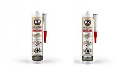 350° Rot 300g 2x K2 Silikon Silikon Hochtemperatur Dichtmasse Baustoffe & Holz