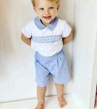 3YRS bnwt Baby ferr white shirt blue shorts spanish romany outfit 3M