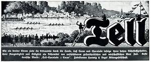 Tell-Schokolade-Ruderregatta-Reklame-1912-von-Paul-Hofer-Keuern-rudern-Vierer