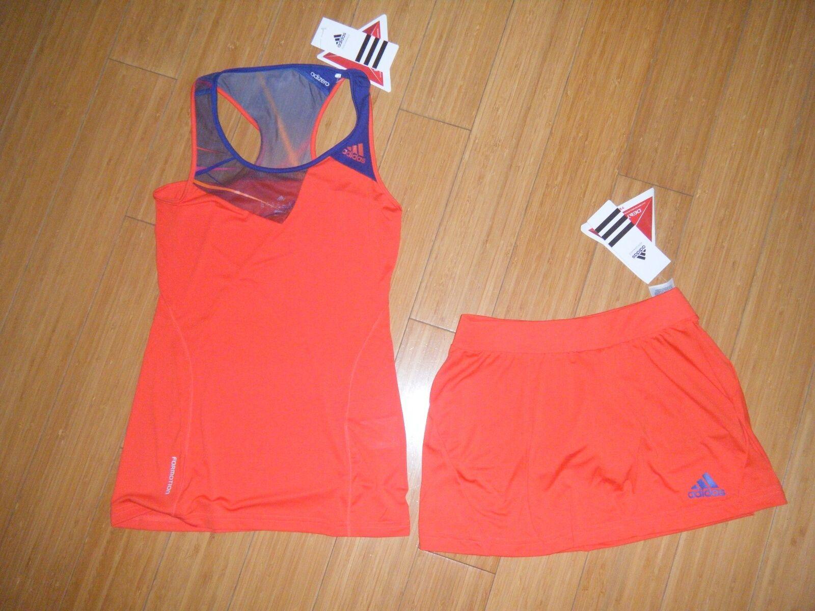 Women's adidas AdiZero Tennis Outfit Skirt skort & Tank Top climacool Reg