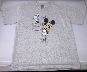 Vintage 90/'s Mickey Mouse Surf Graphic T-Shirt Sz L