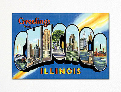 Greetings From Chicago Illinois Fridge Magnet