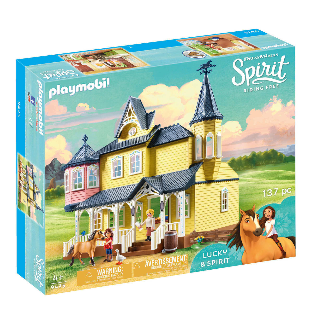 PLAYMOBIL 9475 BOTTIGLIA SPIRITO Riding libero agriturismi 100% NUOVI/SIGILLATI