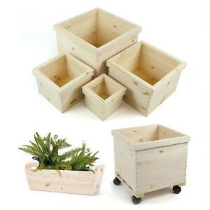 HolzFee-Pflanzkasten-Holz-Blumenkasten-Pflanzkuebel-Pflanztopf-Ubertopf-Pflanzen