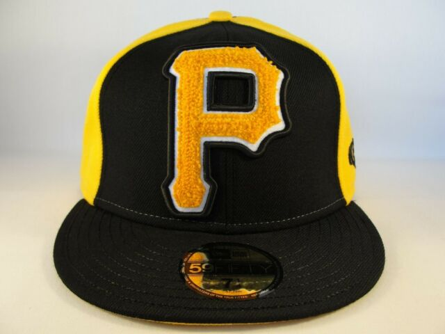 26545ddd9acd4 MLB Pittsburgh Pirates New Era 59FIFTY Fitted Hat Cap Collegian Black Gold