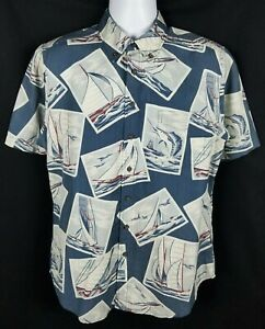 mydeshop Men Hawaiian Shirts Print Short Sleeve Button Down Aloha Shirts