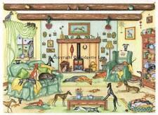 Whippet Greyhound dog Acuarela / Tinta Pintura 49 Perros