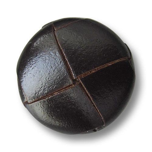 5813db 5 pardo oscuro cuero botones m metal-ojal en clásico geflochtener forma