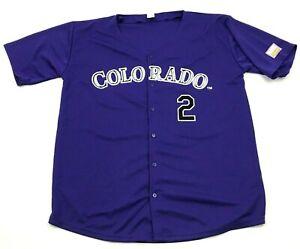 MLB Troy Tulowitzki Colorado Rockies Baseball Jersey Size Extra Large XL Purple