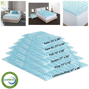 Orthopedic-Bed-Pad-5-Zone-Authentic-Comfort-2-Inch-Foam-Mattress-Topper-6-Sizes