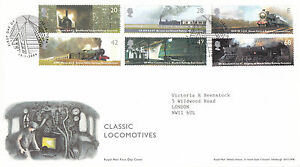 13-JANUARY-2004-CLASSIC-LOCOMOTIVES-ROYAL-MAIL-FIRST-DAY-COVER-YORK-SHS