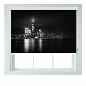New York @ Night Photo blackout roller blinds for Kitchen ...