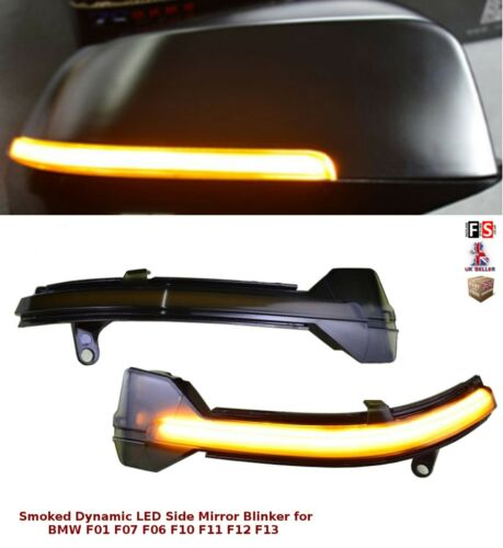 BMW 5 SERIES F10 LCI LED SMOKED DYNAMIC SEQUENTIAL SIDE MIRROR TURN SIGNAL LIGHT