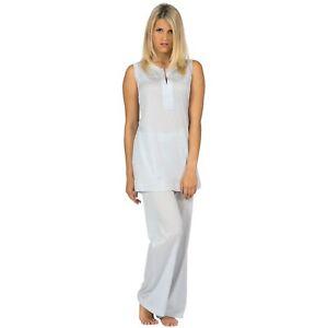Damen Leichtere Baumwolle Gr 36 Pyjama Schlafanzug S Reine Lang Hutschreuther wx1Zw