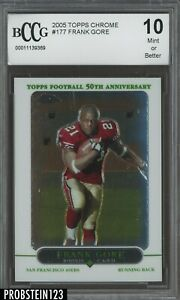 2005-Topps-Chrome-177-Frank-Gore-49ers-RC-Rookie-BCCG-10