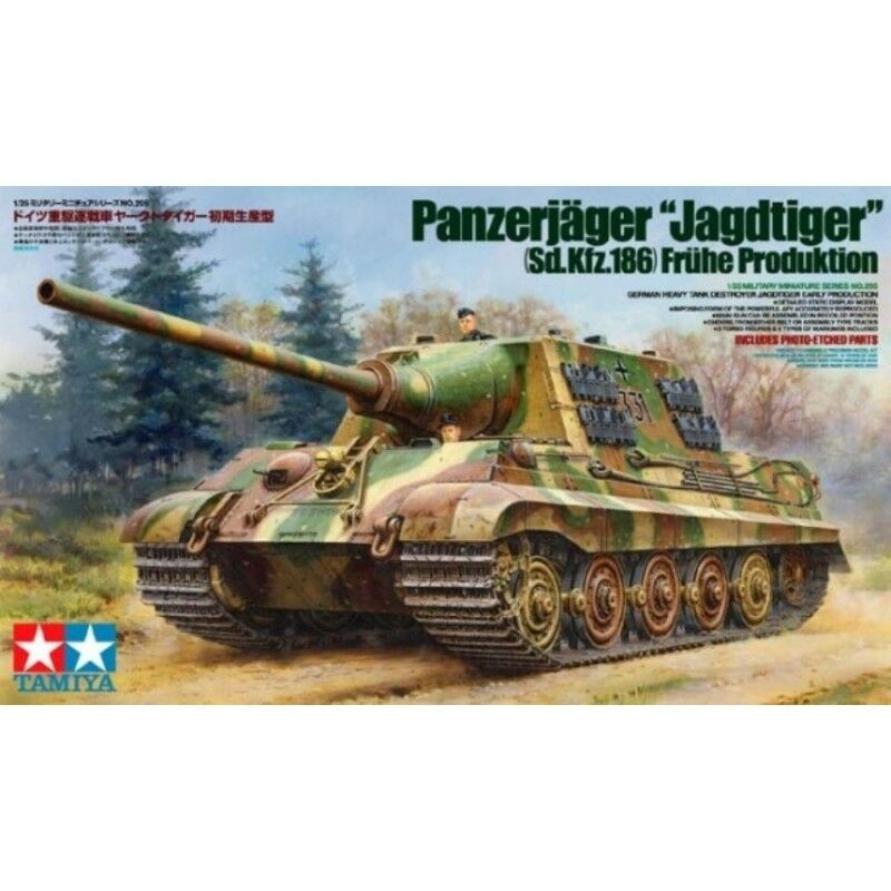 Tamiya 1 35 scale WW2 German Jagdtiger Early version tank