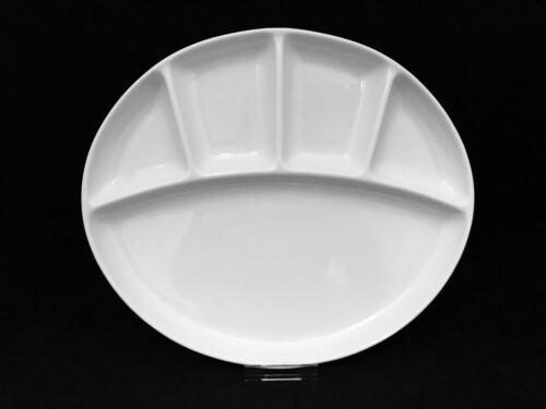Abteilplatte teller oval 29,5 cm 5-geteilt teller weiß 29.5 x 25.5 x 3 cm