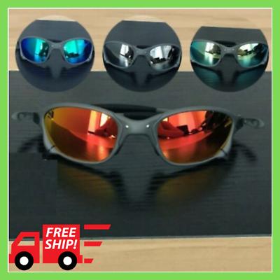 NEW 2020 X-Metal Madman Round Outdoor Sunglasses Ruby Polarized Lenses TITANIUM