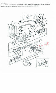 ford 555 backhoe parts diagram 755b ford tractor backhoe , flange. part # e6nnf577aa | ebay