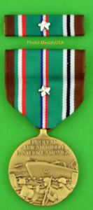 WWII-European-Theater-Campaign-full-size-Medal-amp-Ribbon-earned-5-campaign-stars