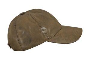 Mens-Ladies-Real-Leather-BASEBALL-Cap-Dirty-Brown-Nappa-Hip-Hop-Unisex-Cap-Hat