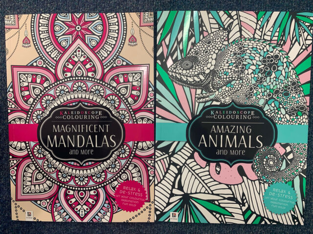 2 X Adult Colouring Book A4 20 & 34 Pages Each Activity Animals & Mandalas
